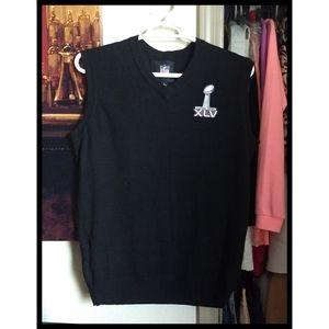 🏈 NFL Super Bowl XLV Sweater Vest Sleeveless Knit